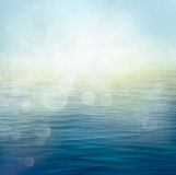 Waves in motion blur. Small waves on water surface in motion blur Stock Photo