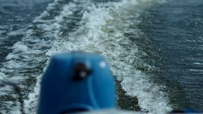 Waves in motion from the boat. The waves from a motor boat stock video footage