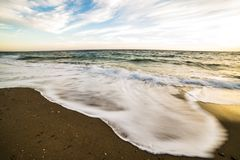 Waves in motion in a diferent picture royalty free stock photo