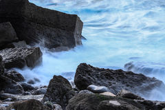 Waves in movement Royalty Free Stock Photo
