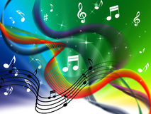Waves Music Background Means Colorful Singing And DJ Royalty Free Stock Photo