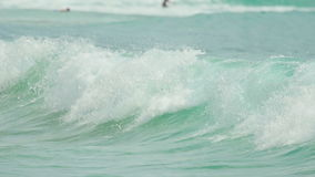 Waves on Nai Harn beach stock footage