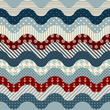 Waves nautical pattern. Stock Images