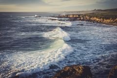 Waves near Pigeon Point royalty free stock photos