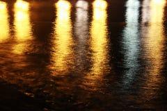 Waves at night Royalty Free Stock Photo
