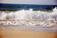 Waves on the North Coast of Egypt. Powerful waves on the North Coast of Egyp Royalty Free Stock Photo