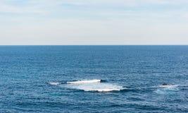 Waves in the ocean along the Bondi to Coogee coastal walk, Sydney, Australia royalty free stock photo