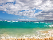 Big Waves. High waves of the famous Big Beach in summer, Makena State Park in Maui, Hawaii, USA Royalty Free Stock Images
