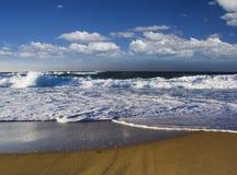 Waves Ocean sand royalty free stock photo