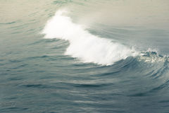 Waves in the ocean. Smooth waves rolling the the blue ocean Stock Photography