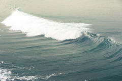 Waves in the ocean. Smooth waves rolling in the blue ocean Stock Photos