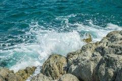 Waves in ocean Splashing Waves Andaman Phuket Thailand Royalty Free Stock Photography