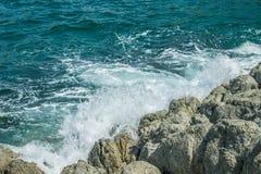 Waves in ocean Splashing Waves Andaman Phuket Thailand Royalty Free Stock Photos