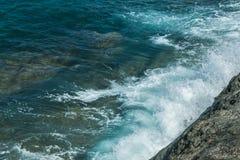 Waves in ocean Splashing Waves Andaman Phuket Thailand Stock Images