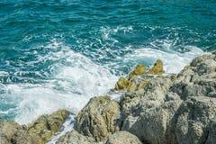 Waves in ocean Splashing Waves Andaman Phuket Thailand Stock Photos