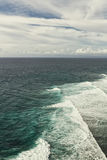 The waves in the ocean. Uluwatu Temple royalty free stock photography