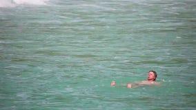 Waves od Andaman sea stock footage