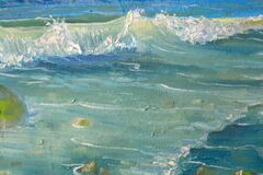 Free Waves Oil Painting Royalty Free Stock Images - 191530699