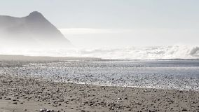 Waves in the Oregon coast stock video footage