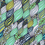 Waves organic and floral pattern Stock Photo