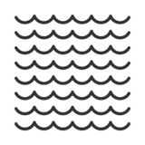 Waves outline icon stock image