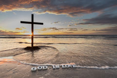 Waves Over God is Love Royalty Free Stock Images