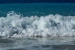 Waves in own finishing step royalty free stock images