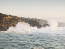 Waves på kusten Fotografering för Bildbyråer