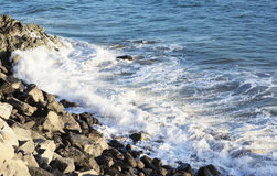 The waves of the Pacific ocean, the beach landscape. Royalty Free Stock Image