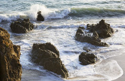 The waves of the Pacific ocean, the beach landscape. Stock Photo