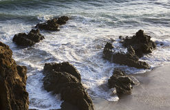 The waves of the Pacific ocean, the beach landscape. Stock Photos