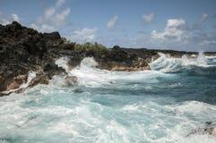 Waves crash on coast Royalty Free Stock Image