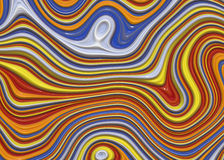 Waves of Paint. Various Colors Mixing Into Wave Pattern Stock Images