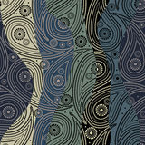 Waves Paisley Pattern Stock Photography
