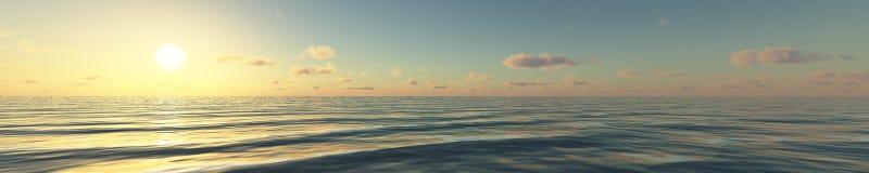 Waves panorama Stock Photo
