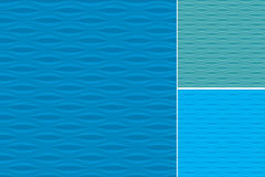 Waves Patterns Set Royalty Free Stock Photo