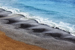 Waves on pebble. Beach in Lima Peru Royalty Free Stock Photography