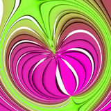Waves. Pink and green abstract pattern of waves Royalty Free Stock Images