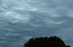 Waves of Pointy Clouds Royalty Free Stock Image