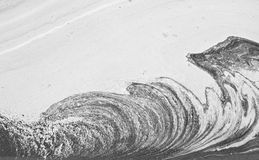 Waves at pond Royalty Free Stock Images