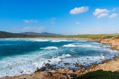 Waves in Porto Ferro coastline Royalty Free Stock Photography