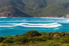 Waves in Porto Ferro Royalty Free Stock Photography