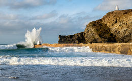Waves at Portreath Stock Image