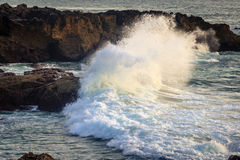 Waves in Portugal Royalty Free Stock Images