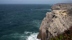 Waves in portugal ocean stock footage
