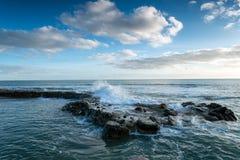 Waves at Portwrinkle Royalty Free Stock Image