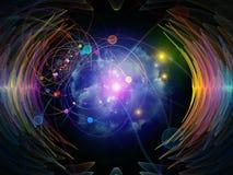 Waves of Radial Oscillation Vector Illustration