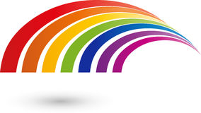 Waves, rainbow in color, rainbow and painter logo. Waves, rainbow in color, rainbow and painter Stock Image