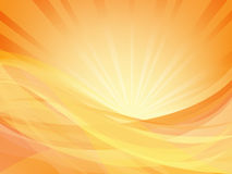 Waves and rays of light Royalty Free Stock Photo
