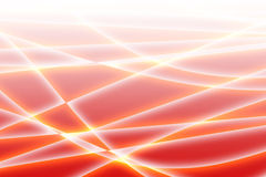 Waves on the red. White lines and waves on the red abstract background Royalty Free Stock Photos